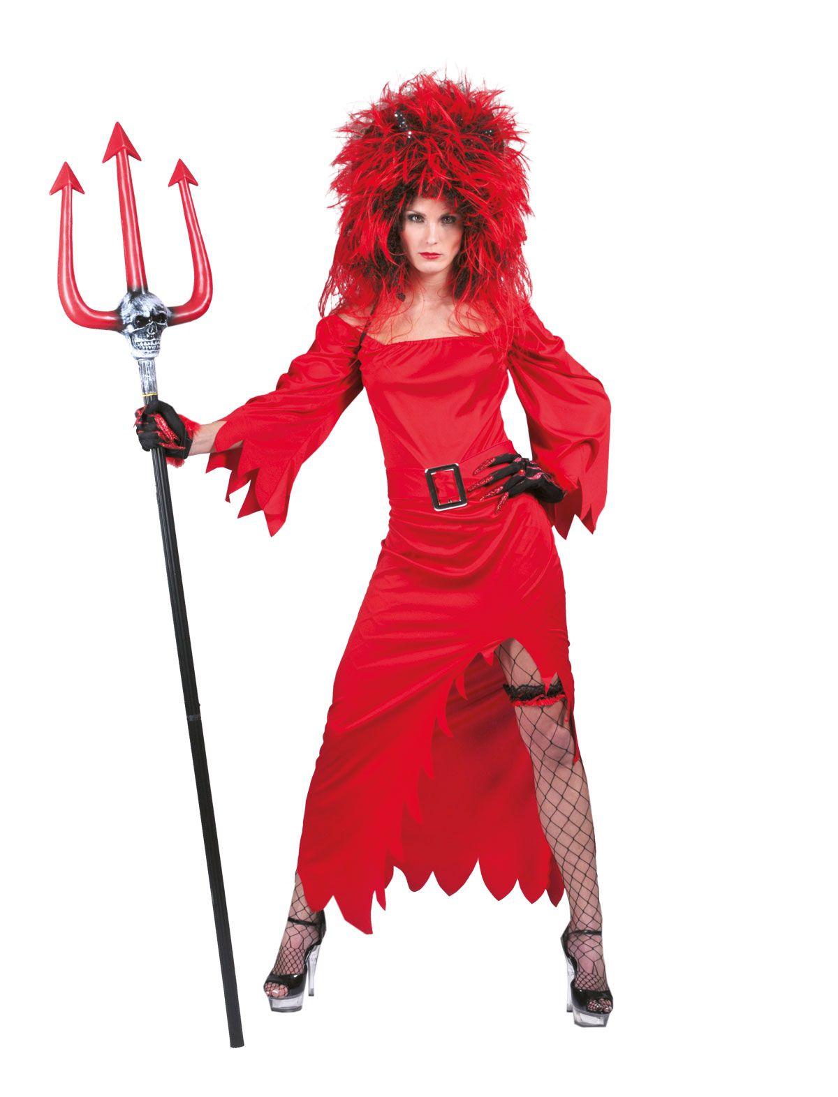 Djævle Lina kjole - Halloween djævle kostumer - Bergdahls