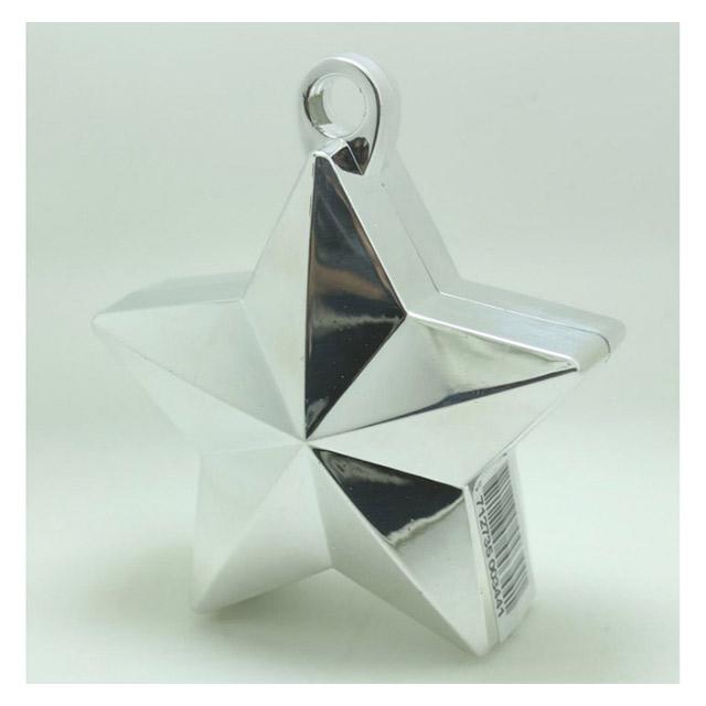 436a870f9fbd Ballonvægt stjerne sølv. Købes her hos - Bergdahls Festbutik