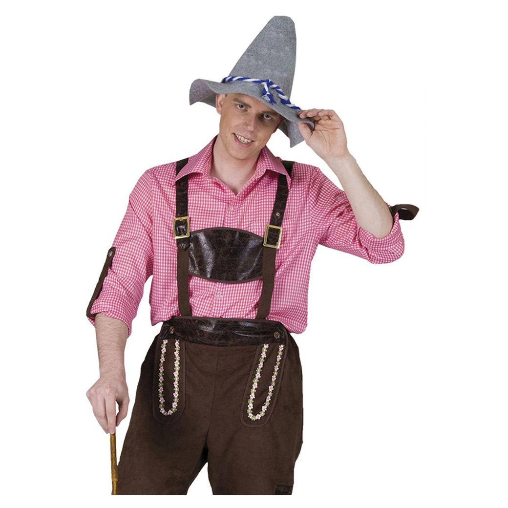 71e0487f Tyroler skjorte i lyserød - Oktoberfest tøj til mænd- Bergdahls ...