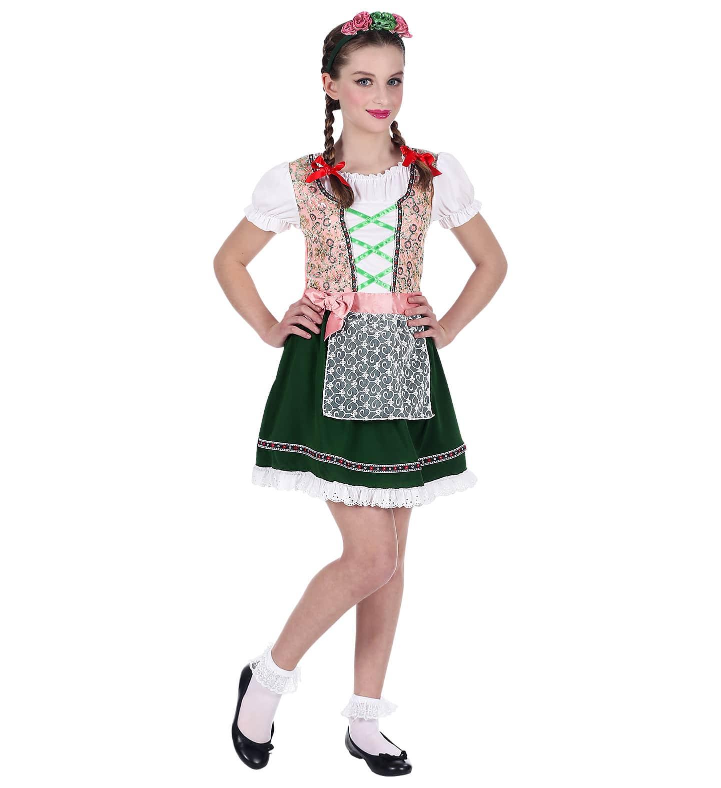 Oktoberfest kjole til pige. Købes hos - Bergdahls Festbutik